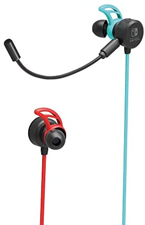 Nintendo Switch Gaming Earbuds Pro with Mixer by HORI – Licensed by Nintendo, Blue