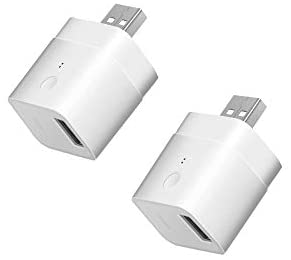 SONOFF Micro USB Smart WiFi Adaptor 5V 2-Pack, Smart Switch for Type A USB Devices, Compatible with Alexa & Google Home Assistant,APP Remote Control Switch, No Hub Required