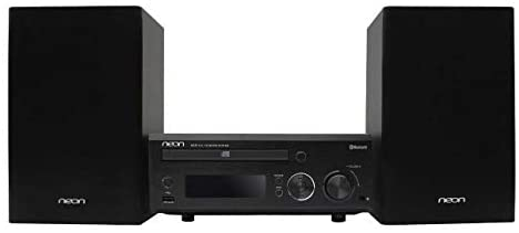 neon MCB1515-37 Micro Hi-Fi Shelf System with Bluetooth, Compact CD Player Stereo Home Music System with FM