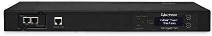 CyberPower PDU15SW10ATNET Switched ATS PDU, 100-120V/15A, 10 Outlets, 1U Rackmount,Black
