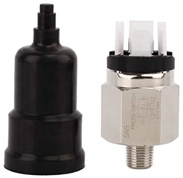 SNS QPF-N2 1/4 Inch Male Thread Pneumatic Adjustable Diaphragm Type Pressure Switch Normally Open and Closed Integrated
