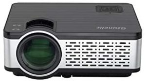 Mini Portable Projector, Gzunelic 5500 Lumens LED LCD proyector Native 1280 x 800 Support 1080P HD Video Built in HiFi Speakers with HDMI USB AV VGA Audio Interfaces Ideal for Home Theater