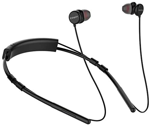 Cowin HE6 Bluetooth Headphones, Wireless Headphones with Bluetooth 5.0 IPX 5 Waterproof HD Sound Stereo Call,Built in Microphone Drop-Resistant Lightweight Neckband 10H Playtime