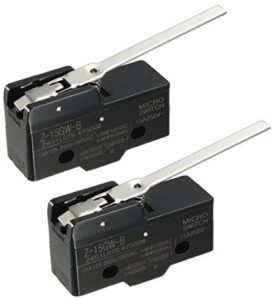uxcell 2PCS Z-15GW-B 1NO 1NC Long Hinge Lever Type Miniature Micro Switches