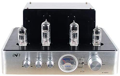 INFI Audio Tube 80W Amplifier, HiFi Stereo Receiver Integrated Amp with Bluetooth, Hybrid Amp for Home Theater System, Adjustment Audio Headphone Preamplifier
