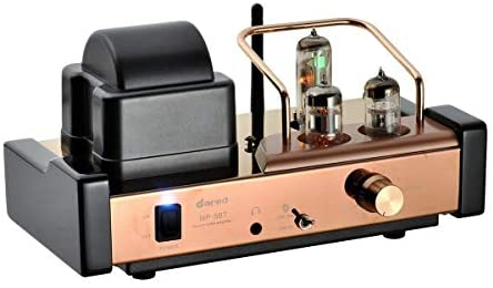 Dared MP-5BT HiFi Vacuum Tube Amplifier, Audiophiles Professional Stereo Integrated AMP, Hybrid Amplifier, Bluetooth/USB DAC/Line Input, 25W x 2 Output, with 6N11,6N21,6E21 Tubes