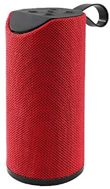 FOSTE HiFi Bass Stereo Sound System Bluetooth V5.0 Wireless Soundbar for Home Theater, Computer Portable Speaker with Support for MicroSD Card & Aux Audio (Red)