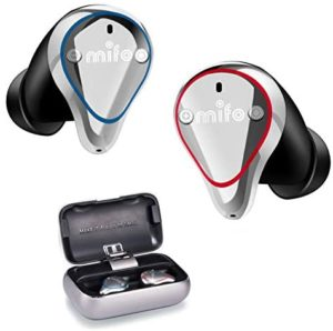 Wireless Earbuds, Mifo O5 Bluetooth 5.0 IPX7 Waterproofed Bluetooth Earbuds, Hi-Fi Sound Wireless Headphones, 100 Hours Playback Noise Cancelling Headsets Built-in Mic Bluetooth Earbuds(Standard)