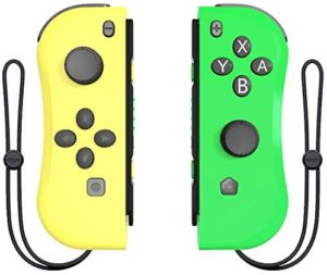 Joy Con Controller Replacement Campatiable for Nintendo Switch – Left and Right Neon Joycon Pad with Wrist Strap, Alternatives for Nintendo Switch Controllers, Wired/Wireless L/R Switch Remotes