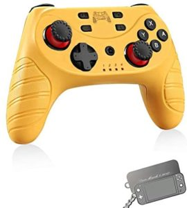 Wireless Switch Pro Controller for Nintendo Switch/Switch Lite,Switch Remote Joypad Control Games Joystick for Switch Console with Turbo,Gyro Axis,Motion & Vibration Shock,Work with Bluetooth(Yellow)