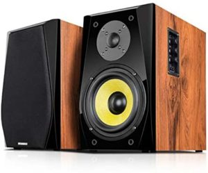 Bluetooth Wooden HiFi Speaker Piano Paint Suitable for Multiple Devices,Placed in The Living Room Study