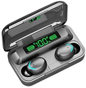 UWINMO True Wireless Earbuds Bluetooth Headphone Touch Control Wireless with Charging case IPX7 Waterproof HiFi Stereo Earphones in-Ear Built-in Mic Headset Premium Deep Bass for Sport