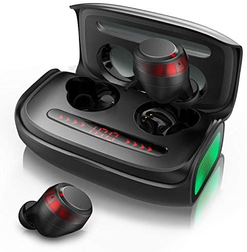 Wireless Earbuds, Votomy Qualcomm Tech TWS Earphones, Bluetooth 5.0, Double Microphones, Powerful Bass, HIFI Sound, IPX7 Waterproof, 150H Playtime, 2500mAh Power Bank, LED Display, USB-C, Sports & Gym