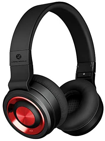 LINPAWorld Bluetooth Headphones Over Ear5.0 with Graphene Driver Hi-Fi Stereo 30H Long BatteryBuilt-in Mic CVC8.0 Noise Cancelling Bluetooth Headsets Comfort and Foldable for Cell Phone/PC/TV
