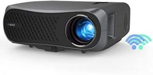 EUG Full HD 1080P Bluetooth Projector Wireless 2.4G/5G WiFi 5500lumen LCD Smart Movie Projectors Home Theater Cinema 1920×1080 Native 10,000:1 Contrast HDMI USB Built-in HiFi Speaker