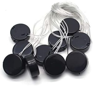 Antrader 10PCS 2 x 3V CR2032 Round Coin Button Cell Battery Holder Socket with 12-inch Wire Lead On/Off Switch