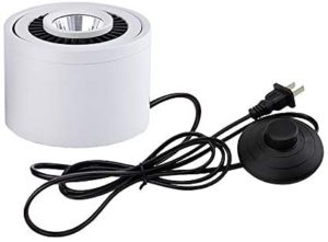 STGLIGHTING High Accent Uplight 7W LED Barrel Type Spotlight Decorative Light Adjustable Body 5.9ft On/Off Foot Pedal Switch Cord for Loft Gallery Exhibition Stage Background Wall Spotlight