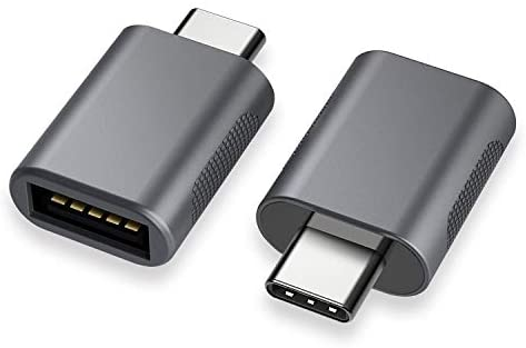 nonda USB C to USB Adapter(2 Pack),USB-C to USB 3.0 Adapter,USB Type-C to USB,Thunderbolt 3 to USB Female Adapter OTG for MacBook Pro2019,MacBook Air 2020,iPad Pro 2020,More Type-C Devices(Space Gray)