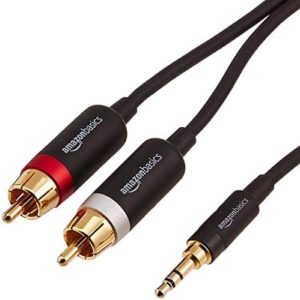 AmazonBasics 3.5mm to 2-Male RCA Adapter Audio Stereo Cable – 4 Feet