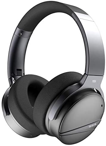 Active Noise Cancelling Bluetooth Headphones – 3D Wireless Over Ear Hi-Fi Sound Foldable Headset with Microphone, Built-in Gyroscope, Smart Play/Pause, Soft Protein Earpads for Travel Work TV/PC/Phone