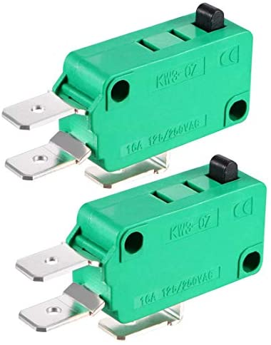 uxcell 2PCS KW3-OZ 16A 125/250VAC SPDT NO NC Push Button Action Type Micro Limit Switches