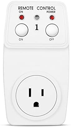Wireless Remote Control Outlet 1 Pack AC Power Light Switch Socket Plug Switch UL