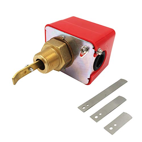 Peissy 3/4″ Water Flow Control Switch 250V HFS-20 SPDT Water Cooling System Thread Paddle Type Flow Switch