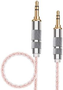 SKW Aux Cable for Car(Hi-Fi Sound),3.5 mm to 3.5 mm Aux Cord/Stereo Audio Cable/Headphone Cable for Home Stereo,iPhone,iPod,IPad,Echo Dot,Sony & More-3.2Feet-Pink