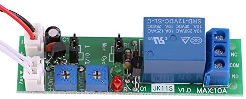 1pc DC 12V/24V Adjustable Cycle Times Switch Module Delay On/Off Timer Delay Switch Module 6 Types Optional (DC12V 0-120mins)