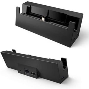 Switch TV Dock with Ethernet LAN Port Centeni Switch Docking Station Portable Switch Dock Connect to TV via HDMI Automatically – Replacement Charging Stand Dock for Nintendo Switch