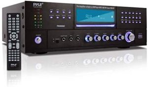 4-Channel Home Theater Bluetooth Preamplifier – 3000 Watt Stereo Speaker Home Audio Receiver Preamp w/ Radio, USB, 2 Microphone w/ Echo for Karaoke, CD DVD Player, LCD, Rack Mount – Pyle PD3000BT