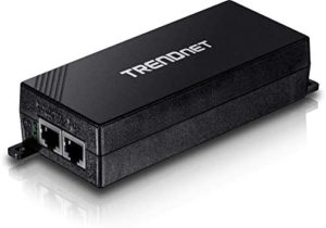 TRENDnet Gigabit Power Over Ethernet Plus Injector, TPE-115GI, Converts Non-Poe Gigabit to Poe+ or PoE Gigabit, Supplies PoE (15.4W) or PoE+ (30W) Power Network Distances Up to 100 M (328 ft.),Black