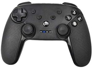 Wireless Switch Game Controller for Nintendo Switch, POWTREE Remote Bluetooth Gamepad Joypad Joystick with Dual Shock, Supports Nintendo Switch/Switch Lite, Windows PC, Android System, and PS3, Black
