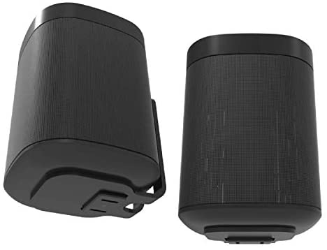 ONE, ONE SL & Play:1 Wall Mount Bracket, Twin Pack, Black, Compatible with Sonos ONE & PLAY1 Speaker