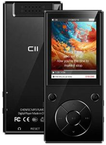 32GB MP3 Player with Bluetooth 5.1, ChenFec Portable 2.4″ Large Screen HiFi Lossless Sound MP3 Music Player with Speakers FM Radio Voice Recorder Video Player, Support up to 128GB