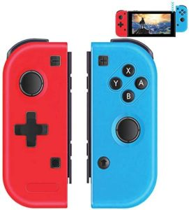 GEEMEE Wireless Controllers for Nintendo Switch, Bluetooth Game Controller Gamepad Joypad Joystick Switch Joy Con(L/R) Controller Compatible with Nintendo Switch/Switch Lite – Red and Blue