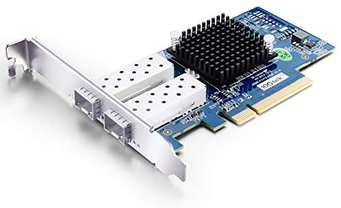 10Gb PCI-E NIC Network Card, Dual SFP+ Port, PCI Express Ethernet LAN Adapter Support Windows Server/Linux/VMware, Compare to Intel X520-DA2