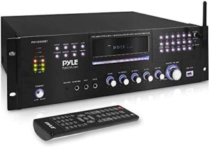 4 Channel Pre Amplifier Receiver – 1000 Watt Rack Mount Bluetooth Home Theater-Stereo Surround Sound Preamp Receiver W/Audio/Video System, CD/DVD Player, AM/FM Radio, MP3/USB Reader – Pyle PD1000BT