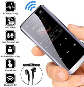 AKDSteel Bluetooth MP3 Player HiFi Sport Music Speakers MP4 Media FM Radio Recorder 8GB Without Bluetooth