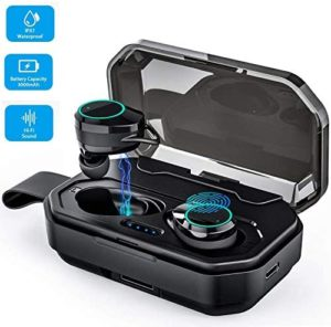 Boost Up Wireless Earbuds Headphones, iPX7 Waterproof Auto Pairing Earphones Headset Built-in Microphone, 100H Cycle Play Time, 3000mAh Charging Case, Hi-Fi Sound, Touch Operation
