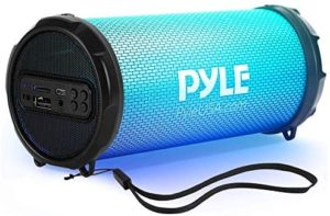 Wireless Portable Bluetooth Boombox Speaker – 100Watt Hi-Fi Rechargeable Boom Box Speaker Portable Music Barrel Loud Stereo System With AUX Input, MP3/USB/SD Port, Fm Radio, 2″ Tweeter – Pyle PBMSPRG3