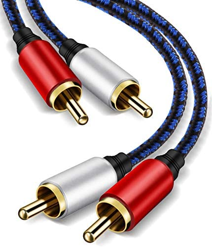 RCA Stereo Cable 6ft,NC XQIN 2RCA Male to 2RCA Male Stereo Audio Cable Gold Plated.for Home Theater, HDTV, Amplifiers, Hi-Fi Systems