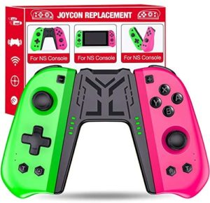 Kydlan Switch Controller with Joypad Replacement, Compatible with Joycon for Nintendo Switch, for Joycon Controller Supports Macros Buttons Auto Turbo, of Joycon Joystick Replacement