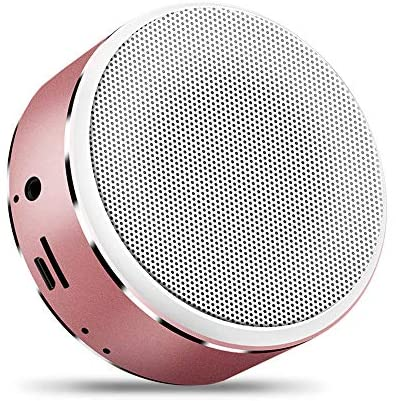 Docooler Wirelessly BT Speaker Mini Portable Subwoofer HiFi Clear Sound Quality Metal Heavy Bass Support AUX TF CardHands-Free Call USB Powered Built-in 600mah Rechargeable Batterys Sound Box Gift