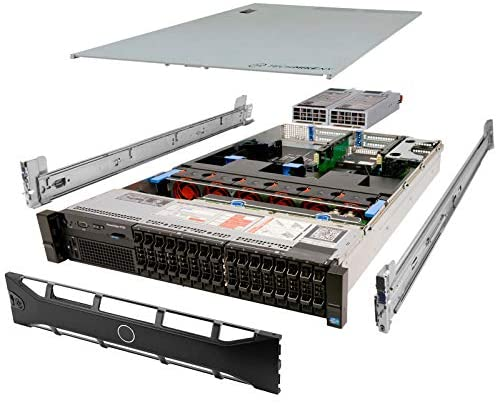 TechMikeNY Server 2.10Ghz 12-Core 64GB 2X 200GB SSD Rails PowerEdge R720 (Renewed)