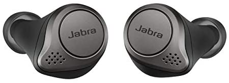 Jabra Elite 75t Earbuds – Alexa Enabled, True Wireless Earbuds with Charging Case, Titanium Black – Noise Cancelling Bluetooth Earbuds with a Comfortable, Secure Fit, Long Battery Life, Great Sound