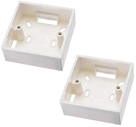 uxcell Wall Switch Box Electrical Outlet Mounting Cassette Single Gang 2pcs