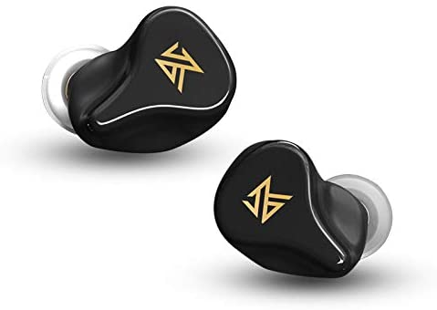 EZ EAR KZ Z1 Newest Bluetooth Headset Wireless Earbuds for iPhone Andriod HiFi Sound 100 H Playtime with Charging Case Touch Control Noise Cancelling Headphone for Game/Work Out (Black)