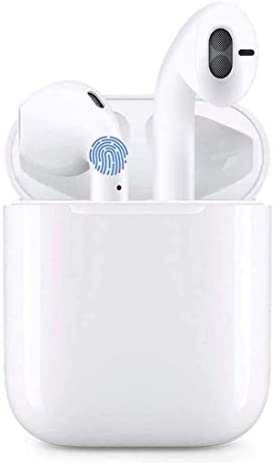 Wireless Earbuds, Bluetooth 5.0 Headphones Hi-Fi Stereo, IPX7 Anti-Sweat and Built-in Microphone Noise Reduction with Charging Case, for Apple Airpods pro/Android/iPhone/Samsung