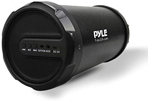 Pyle Portable Speaker, Boombox, Bluetooth Speakers, Rechargeable Battery, Surround Sound, Digital Sound Amplifier, 3.5mm Aux Input, 2.1 Channel Hi-Fi Active Stereo Speaker System in Black – PBMSPG11